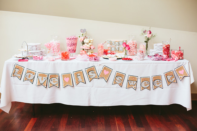 Pink Bunting Candy bar