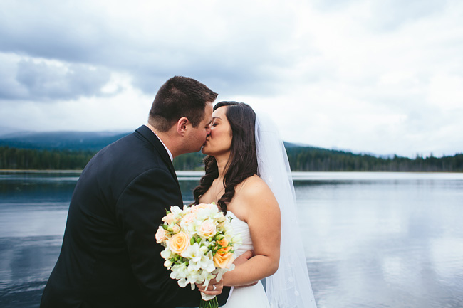 Rainy Cloudy Whonnock Lake Wedding
