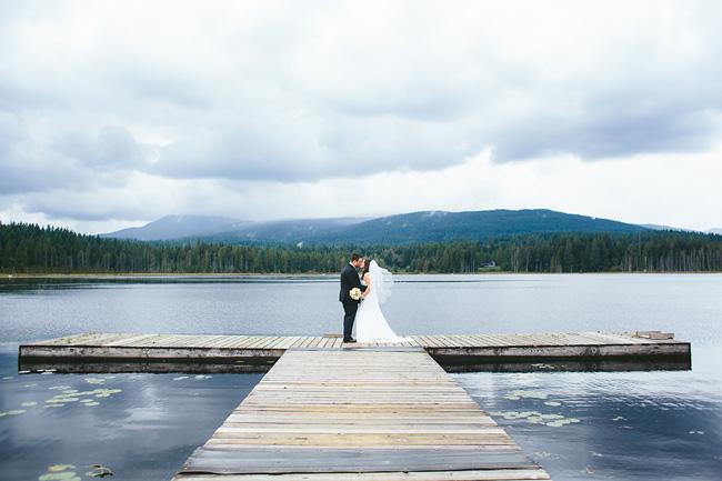 Cloudy Wedding at Whonnock lake
