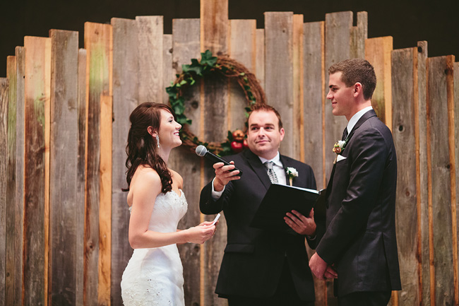 Custom Wooden Ceremony Backdrop
