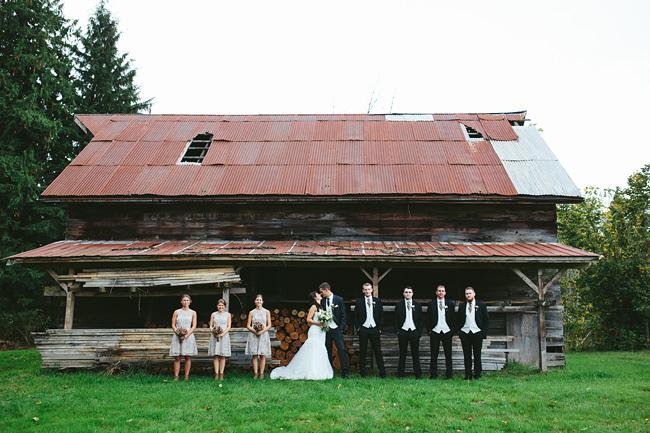 Abandoned Barn Bridal Party Photos