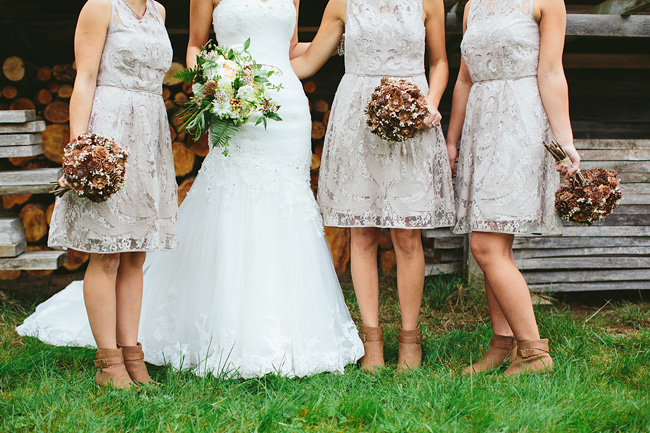 Pinecone Flowers Wedding