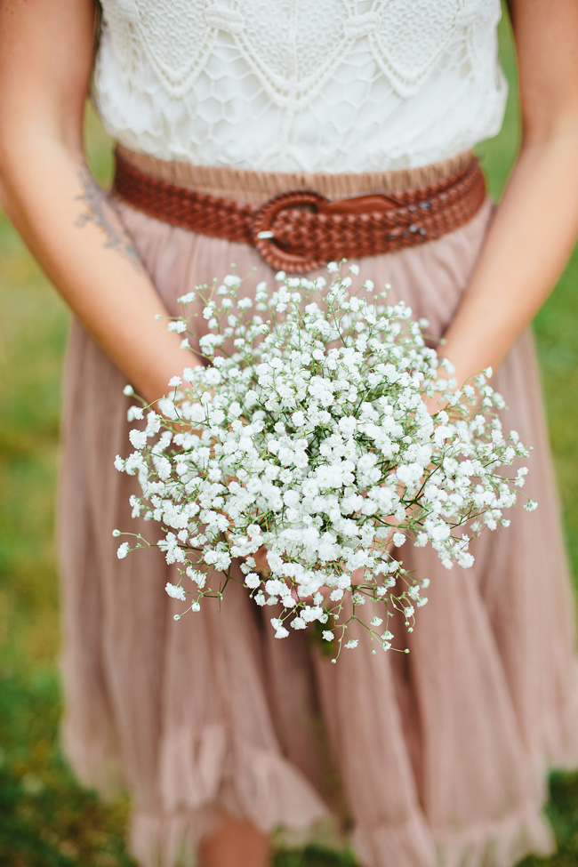 Baby's breath bridesmaid mismatched skirts