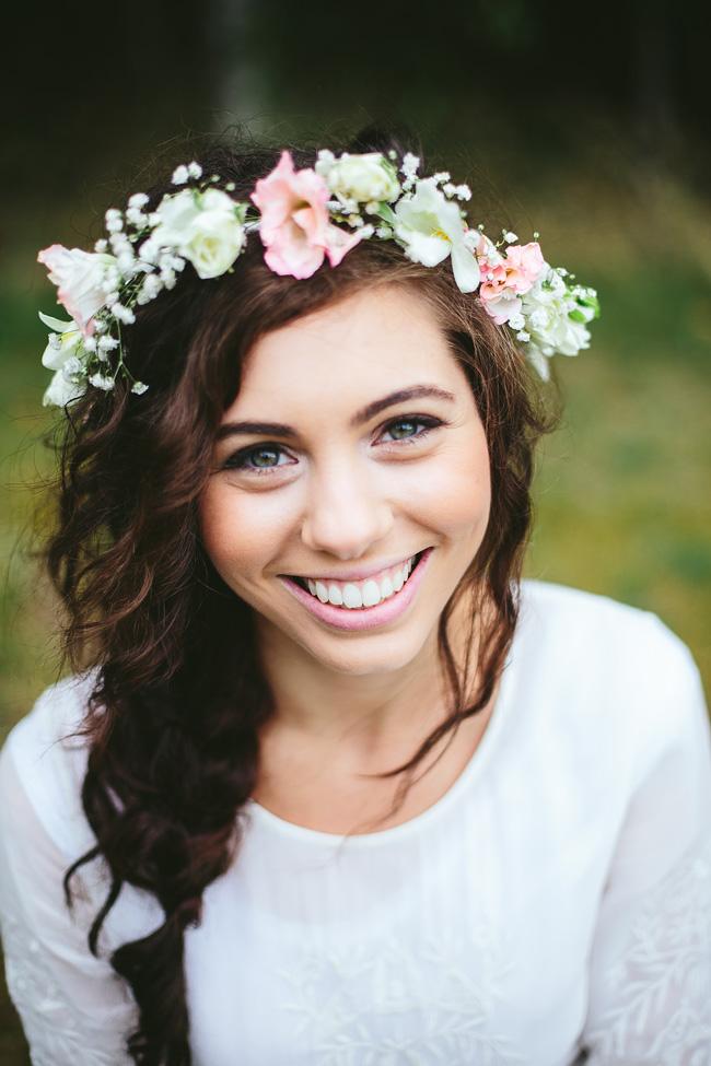 Bohemian Floral Crown Wedding