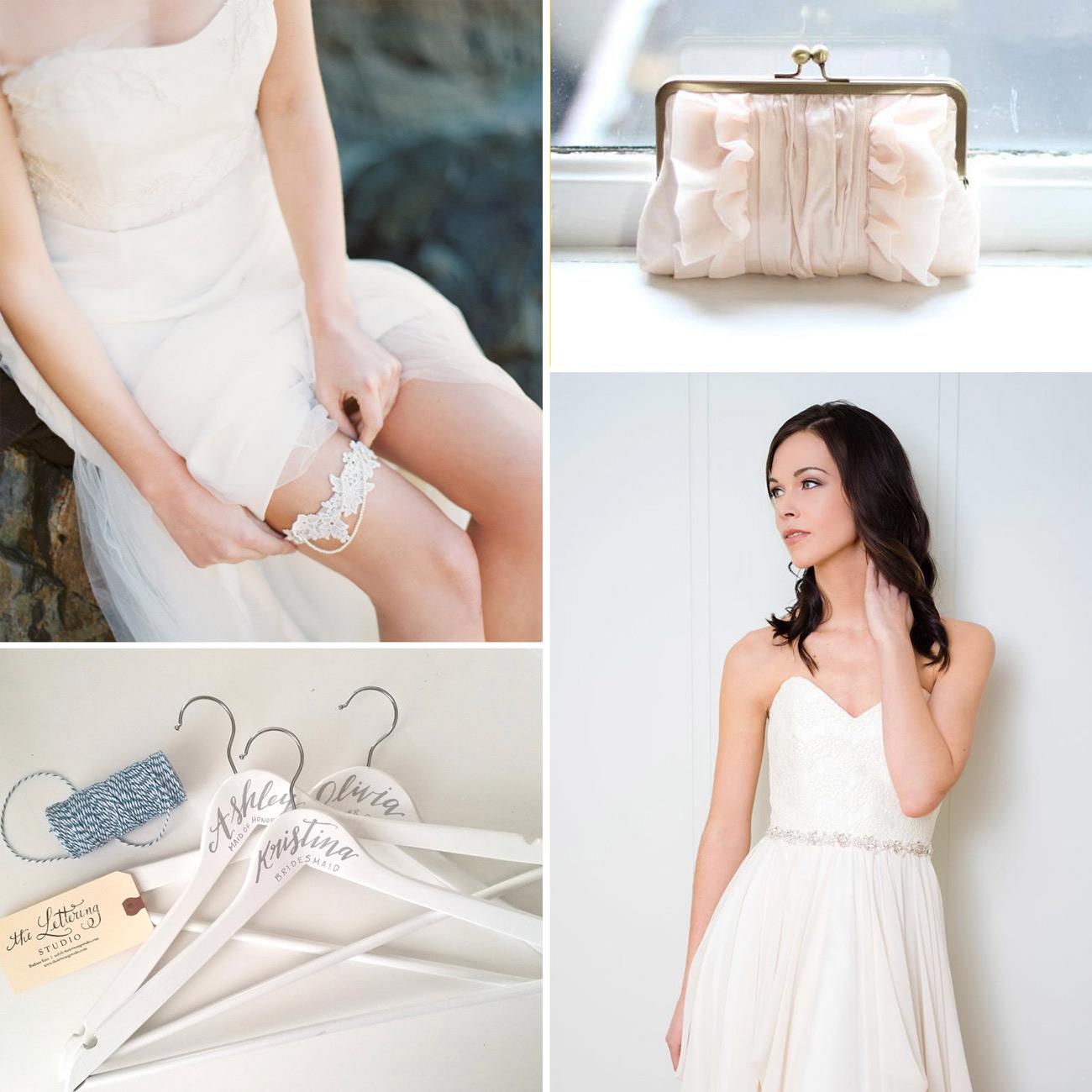 Etsy Canada Wedding Dress Hangers, Clutch, Sashes