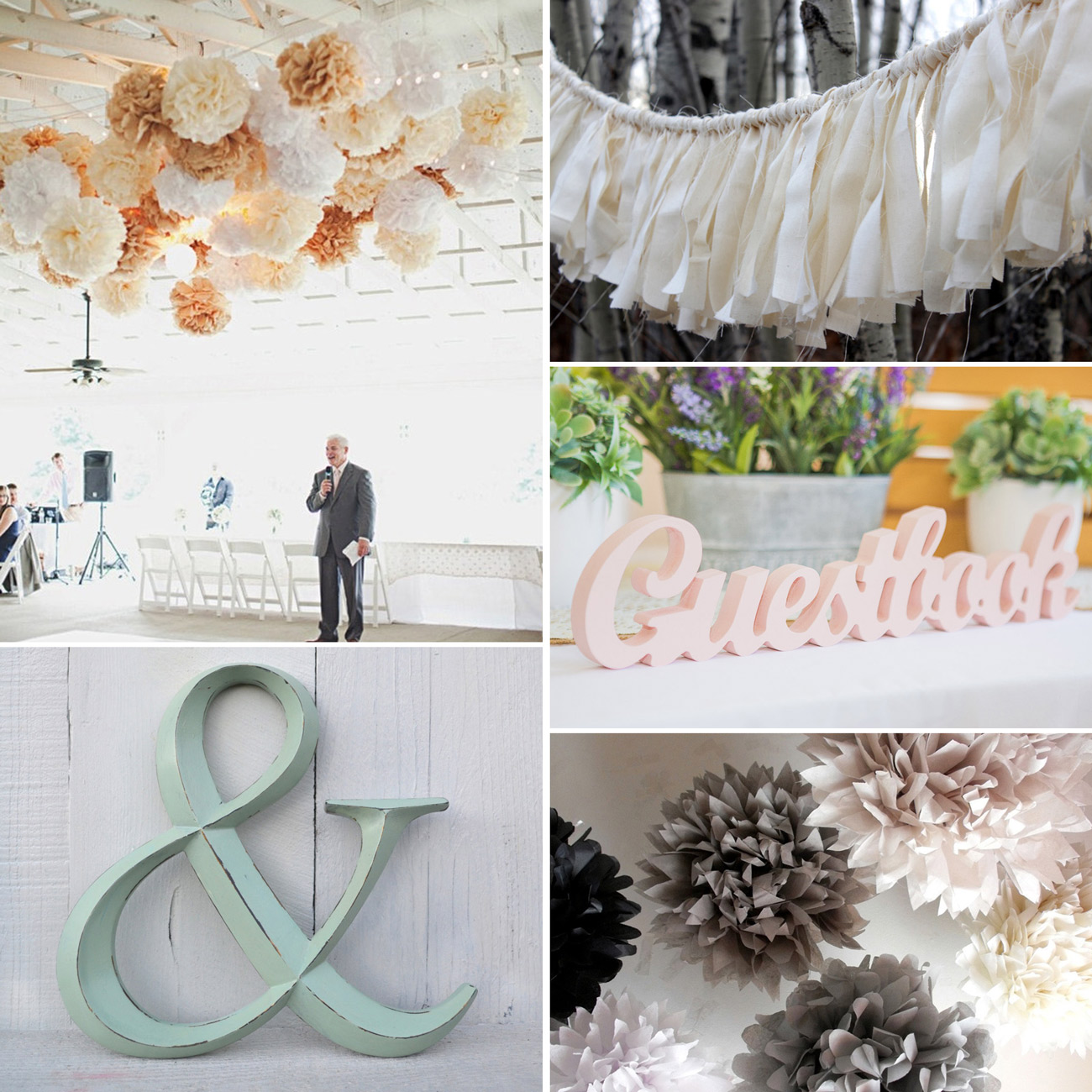 Etsy Canada Wedding Reception Decor