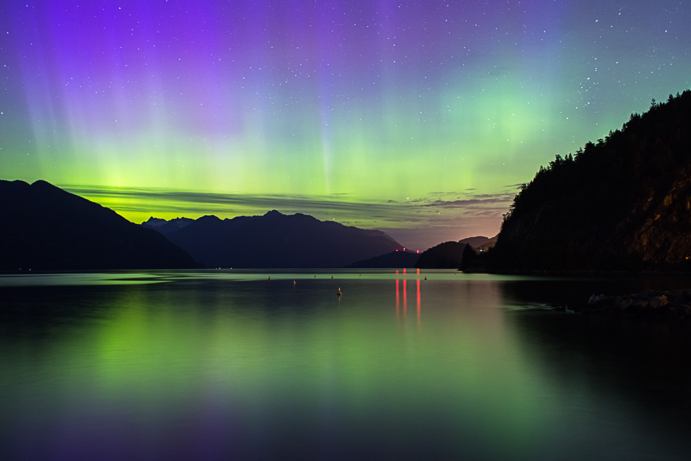 Northern Lights in Vancouver, BC