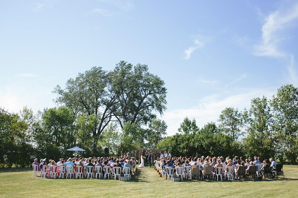 Wedding Ceremony in Field