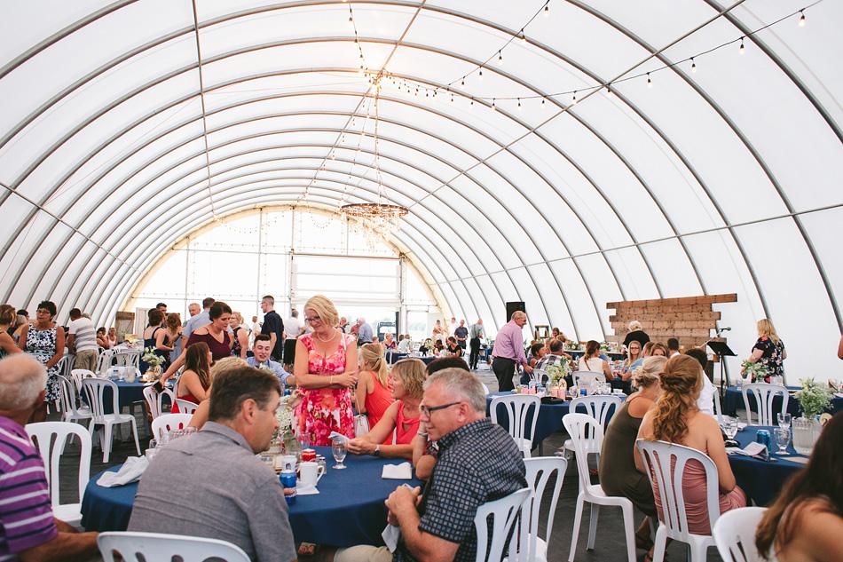 Reception in Farm Tent